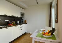 cool modern kitchen of Vienna - Studio with Balcony luxury apartment