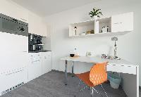 delightful kitchen of Vienna - Studio with Balcony luxury apartment