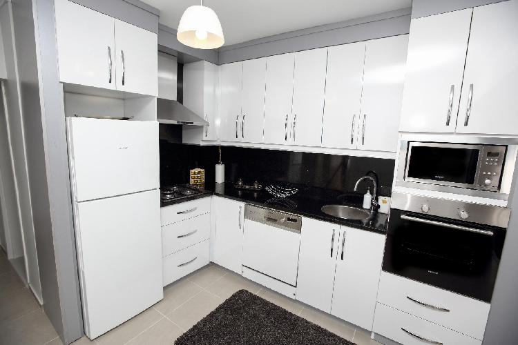 cool modern kitchen of Istanbul - Blue Zircon 1BR luxury apartment and holiday home