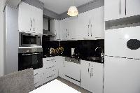 modern kitchen of Istanbul - Pink Sapphire 2BR luxury apartment and vacation rental