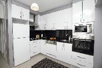 modern kitchen of Istanbul - Orange Citrine 2BR luxury apartment and vacation rental