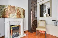 articulately designed living area in a 2-bedroom Paris luxury apartment