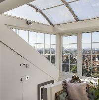 beautiful glass roof of London Netherhall Gardens luxury apartment