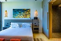 clean bedroom linens in Saint Barth Villa Blackstone luxury holiday home, vacation rental