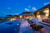 cool poolside of Saint Barth Villa Blackstone luxury holiday home, vacation rental