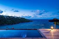 cool infinity pool of Saint Barth Villa Blackstone luxury holiday home, vacation rental