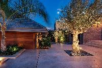beautiful courtyard Saint Barth Villa Blackstone luxury holiday home, vacation rental