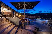 cool deck of Saint Barth Villa Blackstone luxury holiday home, vacation rental
