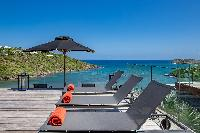 cool sun loungers of Saint Barth Villa Blackstone luxury holiday home, vacation rental