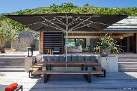 cool patio of Saint Barth Villa Blackstone luxury holiday home, vacation rental