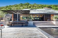 cool cabana of Saint Barth Villa Blackstone luxury holiday home, vacation rental