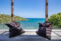 beautiful seafront terrace of Saint Barth Villa Blackstone luxury holiday home, vacation rental