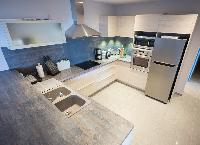 cool kitchen of Saint Barth Villa Ouanalao luxury holiday home, vacation rental
