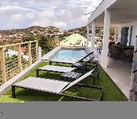 cool balcony of Saint Barth Villa Ouanalao luxury holiday home, vacation rental