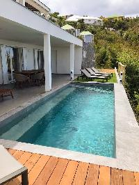 cool swimming pool of Saint Barth Villa Ouanalao luxury holiday home, vacation rental