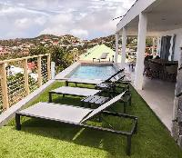 cool terrace of Saint Barth Villa Ouanalao luxury holiday home, vacation rental
