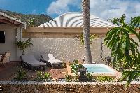 cool patio of Saint Barth Villa Petit Bali luxury holiday home, vacation rental