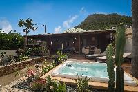 cool hot tub Saint Barth Villa Petit Bali luxury holiday home, vacation rental