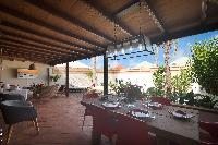 cool courtyard of Saint Barth Villa Petit Bali luxury holiday home, vacation rental