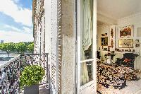 charming balcony overlooking the streets in a Paris luxury apartment