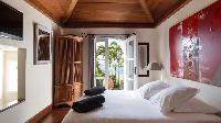 fresh bedroom linens in Saint Barth Villa Pasha luxury holiday home, vacation rental