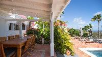 cool lanai of Saint Barth Villa Pasha luxury holiday home, vacation rental