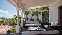 cool balcony of Saint Barth Villa Pasha luxury holiday home, vacation rental
