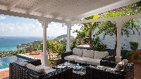 cool terrace of Saint Barth Villa Pasha luxury holiday home, vacation rental