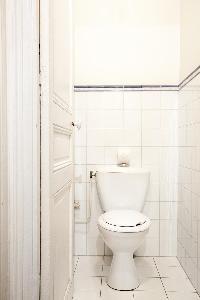 white toilet in Paris luxury apartment