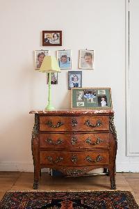 antique cabinet drawer in Paris luxury apartment
