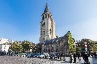 the Abbey of Saint-Germain-des-Prés nearby a Paris luxury apartment