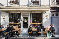 nearby cafe from Paris luxury apartment