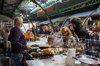 Marché Popincourt farmers market close to Paris luxury apartment