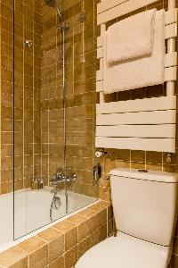 bathroom with integrated shower in Paris luxury apartment