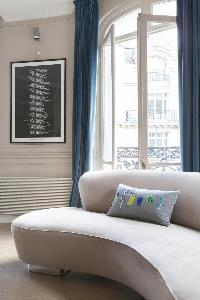awesome couch in Paris - Rue Scheffer luxury apartment