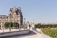 Louvre Museum near a Paris luxury apartment