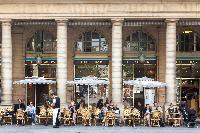 nearby cafe in the Louvre area