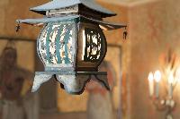 antique lamp in Paris luxury apartment