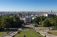 view of Paris from Sacré-Cœur in the Hilly Motmartre close to Paris luxury apartment