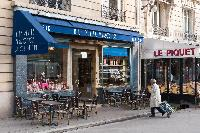 nearby restaurant from a Paris luxury apartment