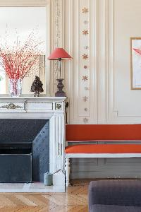 beautifully decorated walls in Paris luxury apartment