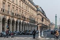 vibrant street near Louvre museum