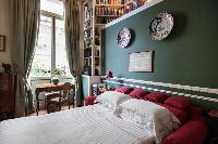 clean and crisp bedroom linens in Paris - Rue Scheffer II luxury apartment