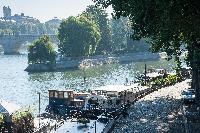 Seine river and boat rides close to Paris luxury apartment