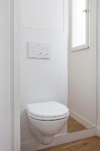 sleek toilet room in Paris luxury apartment