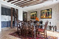 art enthusiast 1-bedroom Paris luxury apartment with impressive interior