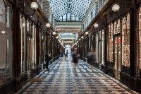elegant passageway leads to Paris luxury apartment