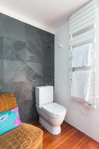 fresh and neat toilet and bath in Paris - Rue Montorgueil luxury apartment