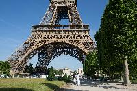 Eiffel tower nearby a Paris luxury apartment