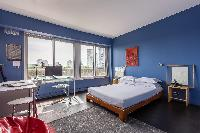 spectacular views along the Seine to the iron silhouette of the Eiffel Tower from the balcony and be